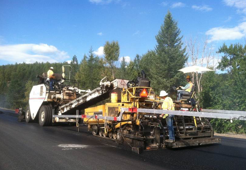 This two-year pavement rehabilitation project was completed in one construction season with eight employees on the crew.