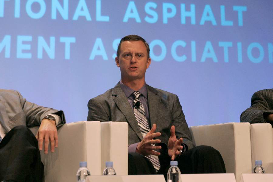 Here Brian Wood joined other state execs and NAPA staff to discuss the marketing moves for the asphalt industry. These two photos courtesy of NAPA.