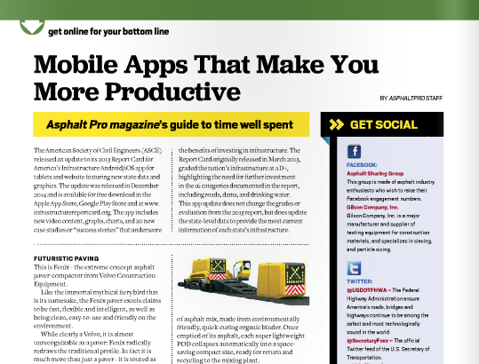 AsphaltPro Magazine | Mobile Apps that Make You More Productive