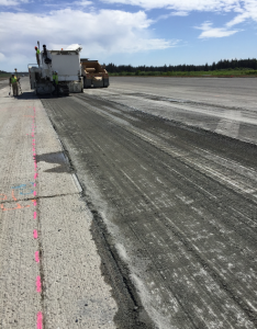 Some of the project needed ½-inch milling. The 3-worker milling crew used a Roadtec RX900e cold planer with GPS machine control.