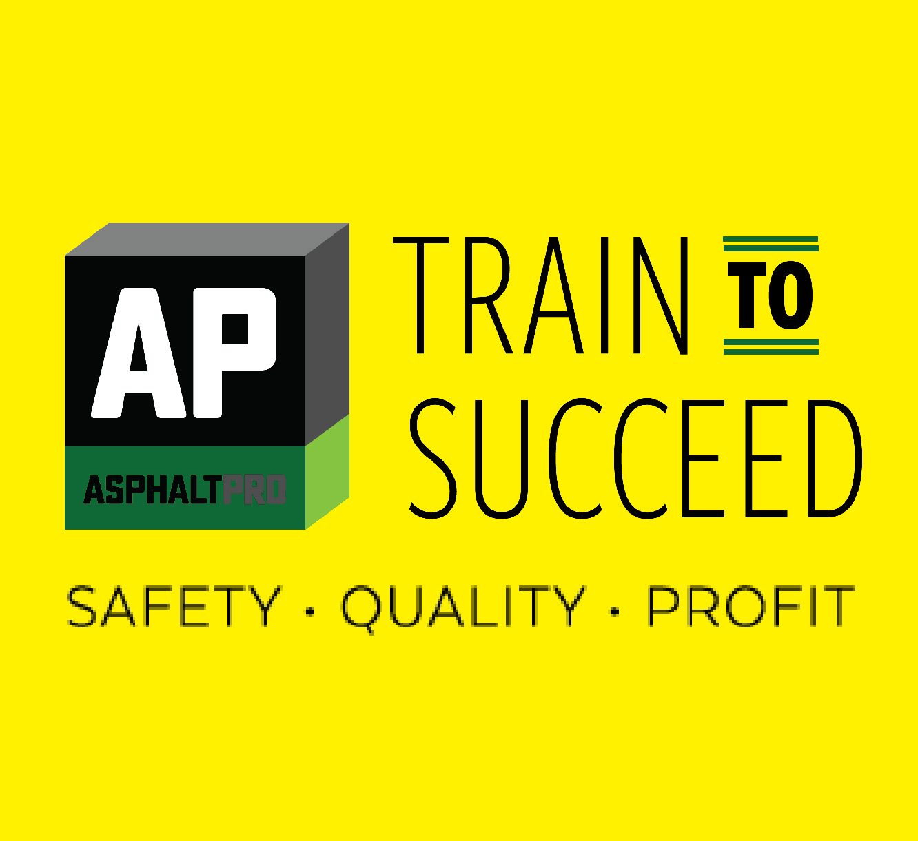 Train To Succeed Yellow Square