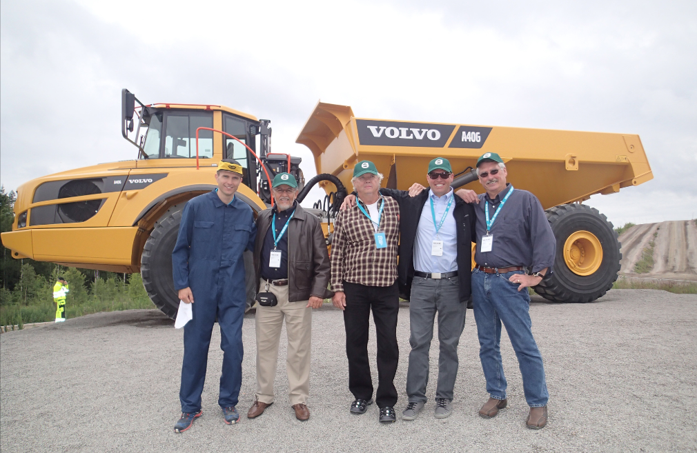 As a reward for his impressive equipment upkeep, Stenvall was sent to participate in the weeklong celebration of the articulated hauler at Volvo's Braås, Sweden facility from July 13 through 18, 2016.