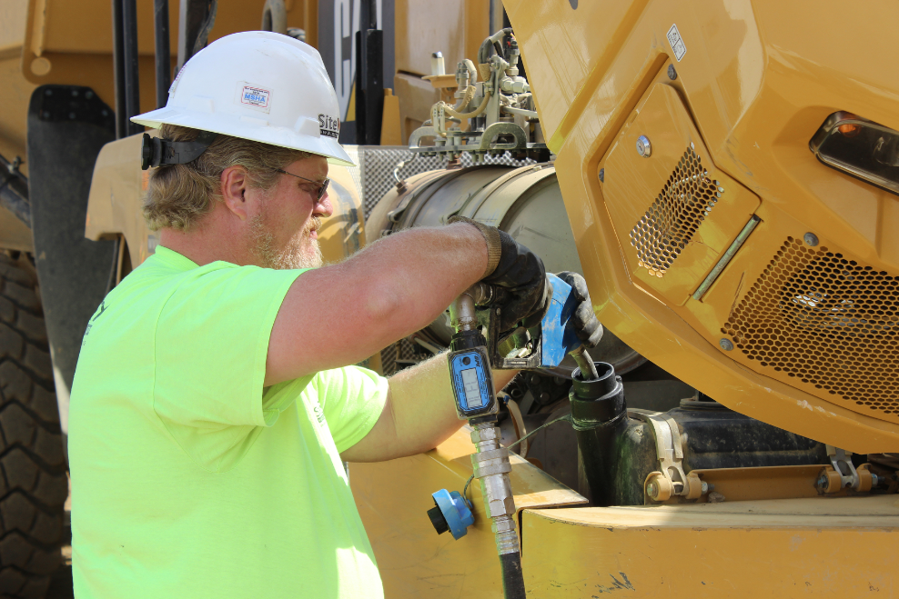 Dispensing DEF from a closed system helps ensure fluid quality and longevity of the SCR system. All photos courtesy of Thunder Creek Equipment.