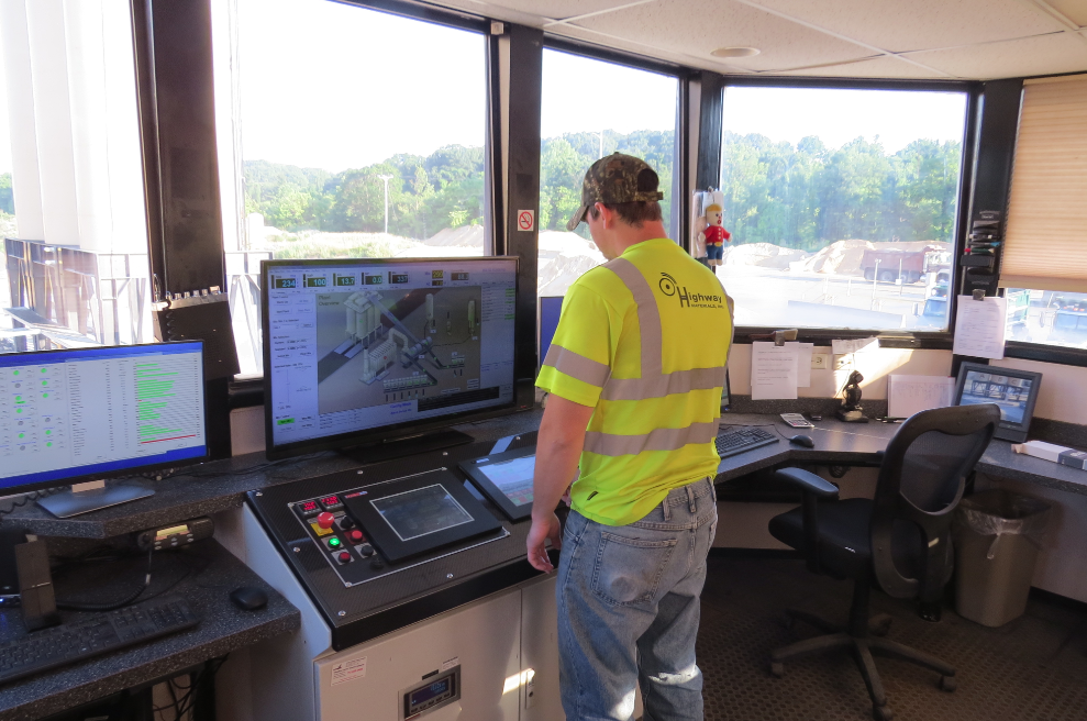 The new Libra automation system provides Plant Operator Tyler Furhman with an immediate understanding of the plant's operation and any alarm conditions that need attention. Photo courtesy Jeff Meeker of Meeker Equipment.