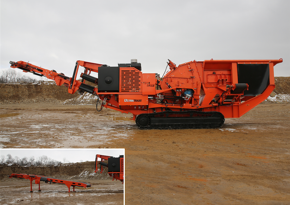 Eagle Crusher Company's latest product innovation is the UltraTraxx™ portable impactor, equipped with the company's UltraMax® UM-15 impactor.