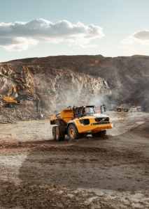 The A60H from Volvo features a max torque of 2,360 foot-pounds and a load capacity of 60.6 tons.