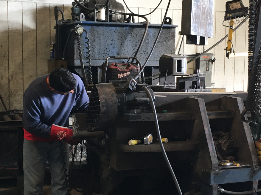 Workers at the Kenco manufacturing facility are the skilled laborers that make American products with American pride. These pieces find their homes with C.R. Jackson Inc. equipment and other customers all across North America. Photos courtesy Kenco Engineering Inc.