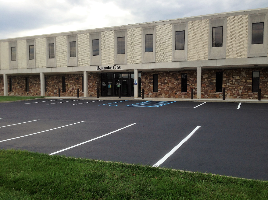 After: A finished parking lot includes the perfect striping.