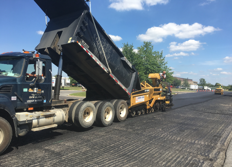 When staging for a multi-day commercial job, it's important to plan where your equipment needs to be at all times so your crew has what they need to succeed without returning to the shop or driving over the newly laid mat.
