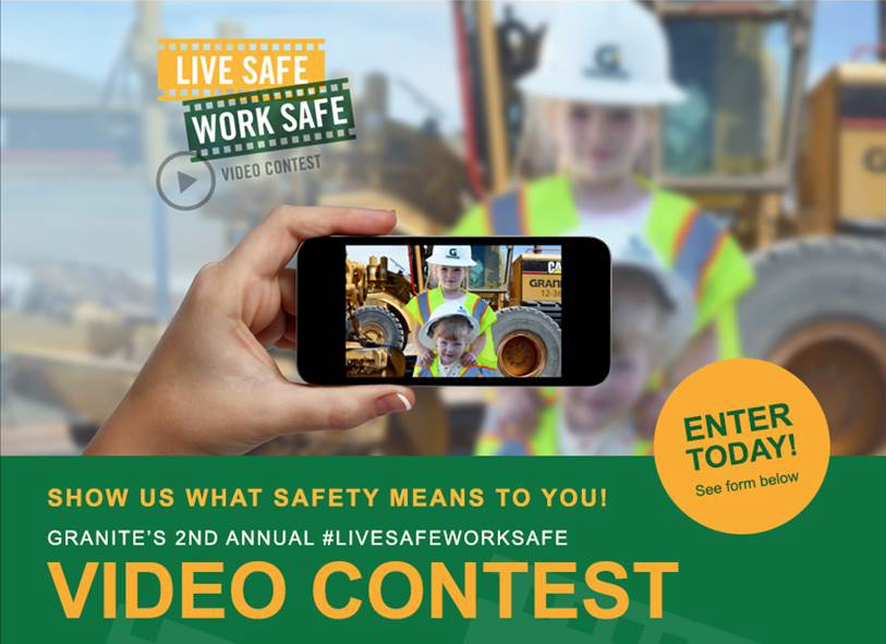 Granite began collecting videos of stories from employees that motivate others to keep safety in mind on the job site.