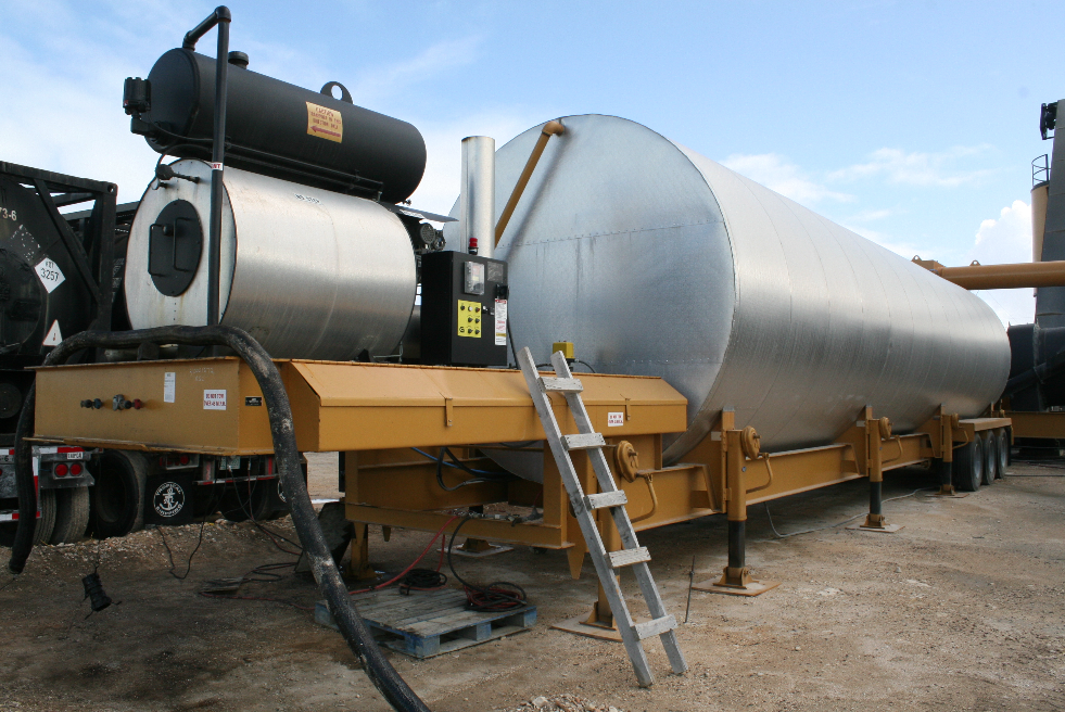 Michael Eddy explained that the delivery of liquid AC to the tropical paradise culminates in them receiving a cool product. This means they use heaters to boost the temperature before transferring it to the larger, permanent storage tank.