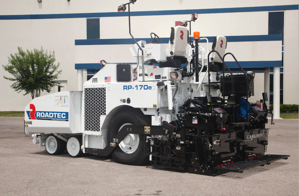 The new RP-170e from Roadtec features an 11-ton, self-dumping front hopper.