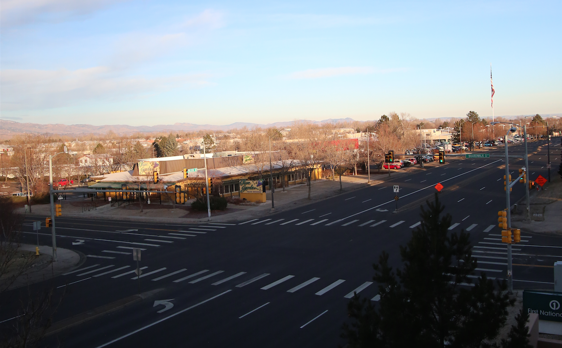 Martin Marietta's project on College Avenue in Fort Collins, Colo., won this year's Urban Highway Resurfacing Award from the Colorado Asphalt Paving Association. You can see the finished project here at the Horsetooth Intersection.