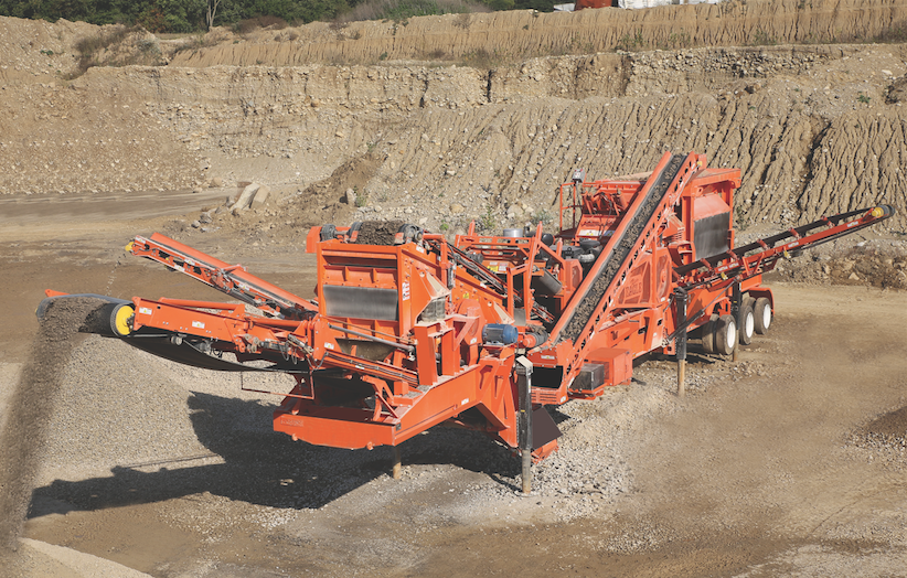 The RapiDeploy portable crusher from Eagle Crusher has built-in, retractable conveyors, and a hydraulic lift and leveling system to enable quick set-up and tear-down.