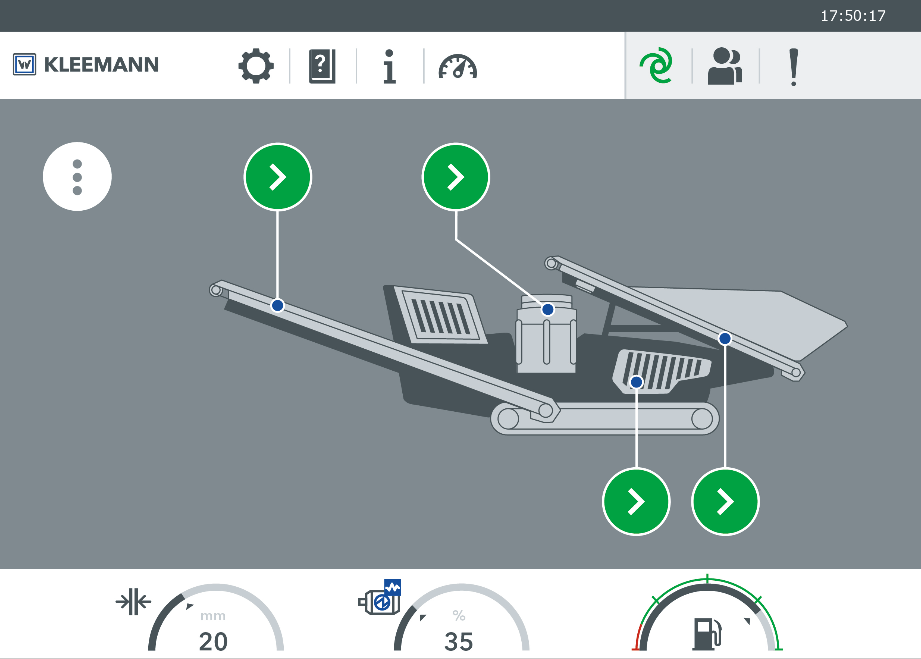 With the SPECTIVE control concept, all plant functions for the crushing plant should be recognizable at a glance.