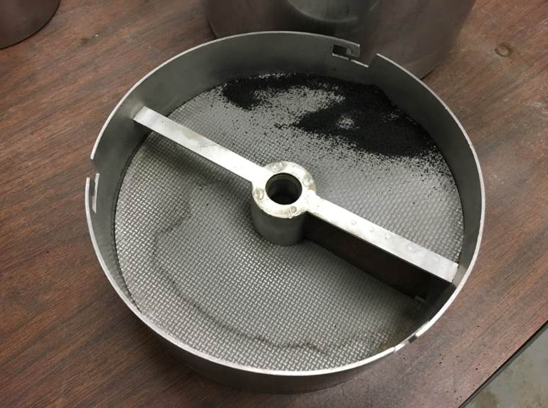 Here you can see the extracted and captured ground tire rubber from a hot-mix asphalt sample. Photos courtesy S.T.A.T.E. Testing LLC, Dundee, Illinois.