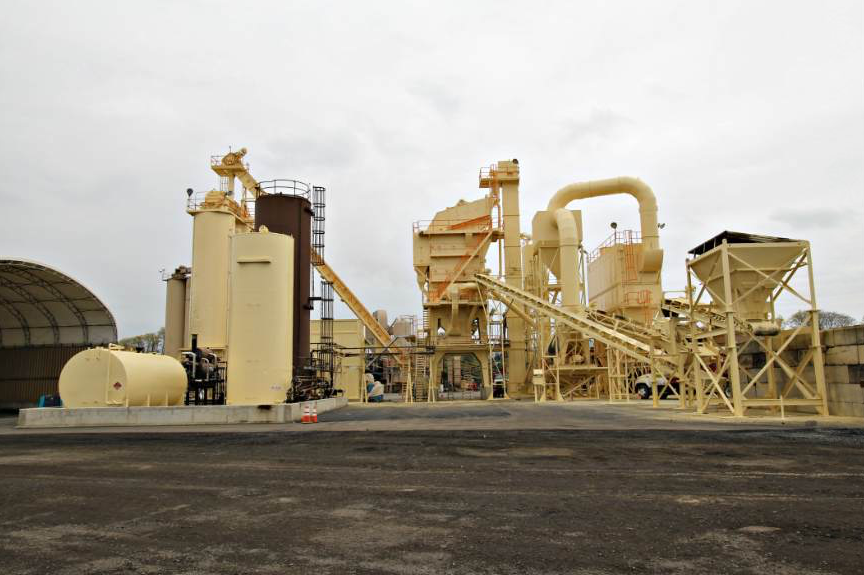 American Asphalt recently added the 5-ton batch plant with 600 tons of storage capacity to the Burlington site and modified it to include a fifth hot bin to accommodate additional mix designs for larger customers while still providing commercial mixes that smaller and mid-size customers request.