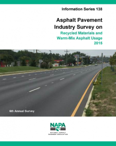 IS-138 is now available. To download a full copy of the survey, visit www.AsphaltPavement.org/recycling.