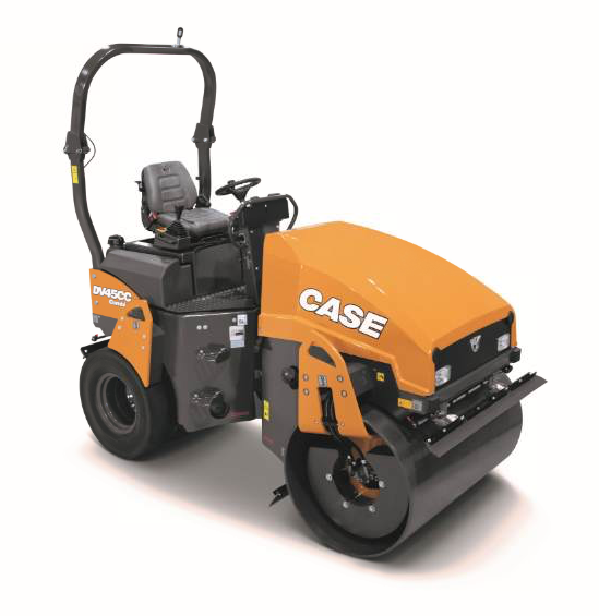 The new DV45CC asphalt compactor from CASE is designed for groundline serviceability.