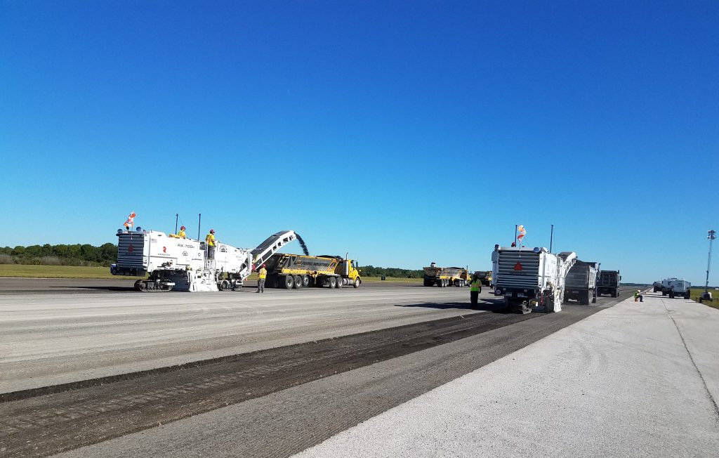 T. Allen Gill of Turtle Southeast credited the team at Ajax Paving for its support throughout the milling phase of the project. Ajax provided and staged the trucks so milling could continue uninterrupted. All photos supplied by Turtle Southeast.