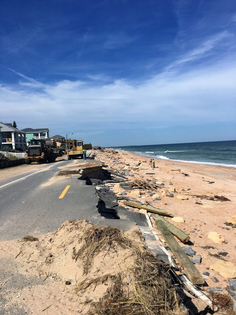 Before: Hurricane Matthew became the first Category 5 Atlantic hurricane since Felix in 2007. When large portions of state road A1A in Flagler County were destroyed, FDOT awarded the rebuild of the 1.3-mile stretch from Ninth Street North to 22nd Street North to Halifax Paving, Daytona Beach, Florida. All photos courtesy Halifax Paving.
