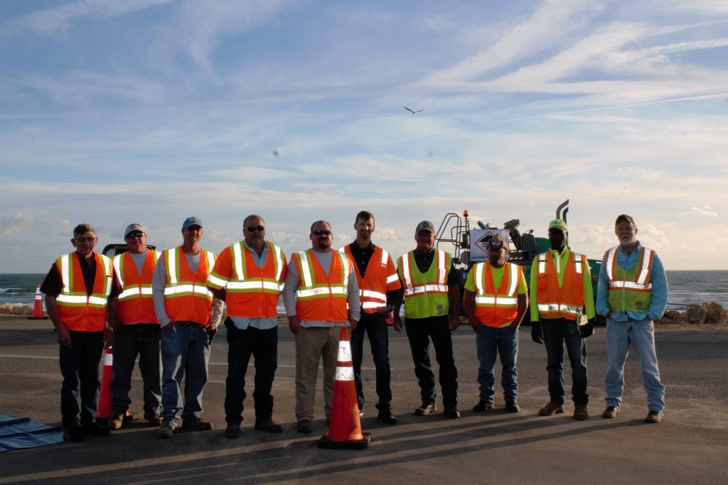 Here's part of the 35-member crew that served on the A1A emergency rebuild project.