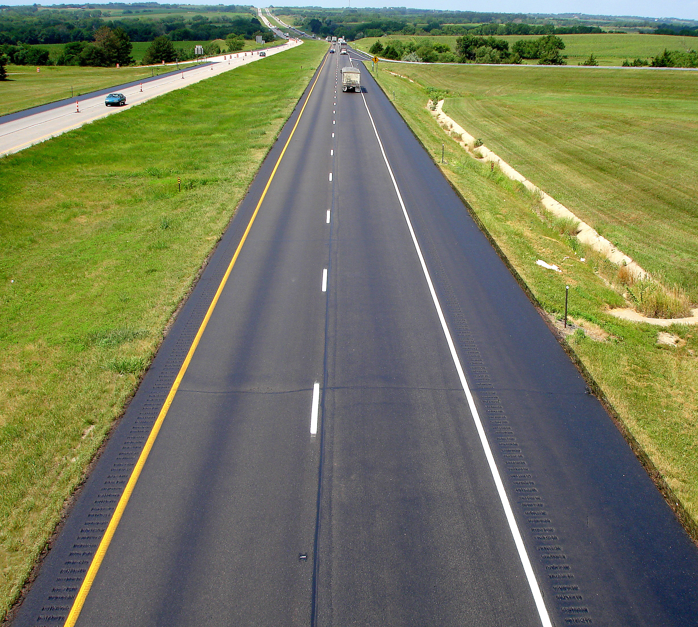 This roadway was sealed with GSB-88® from Asphalt Systems Inc.