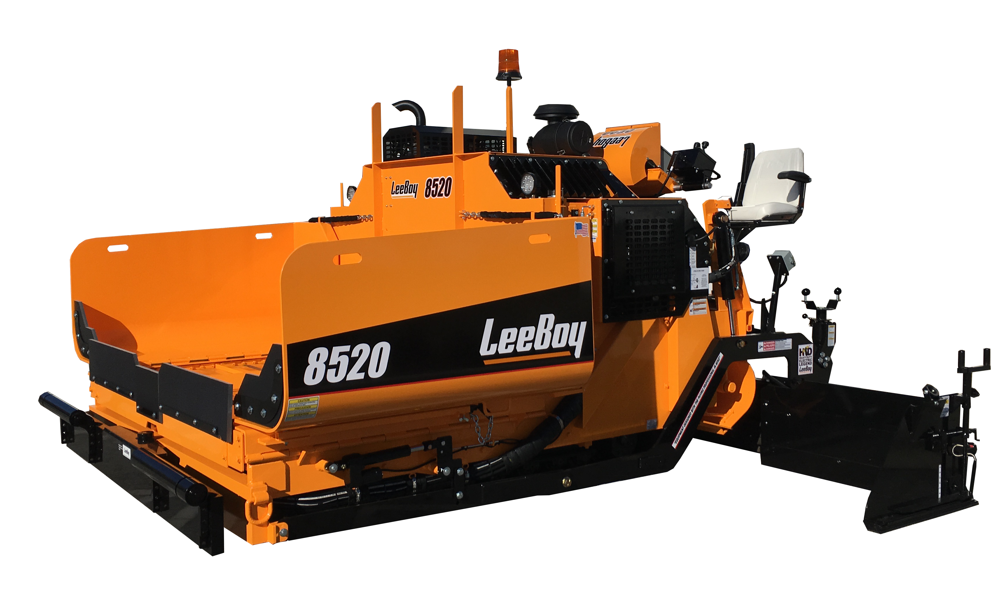 The new 8520 Asphalt Paver from LeeBoy was on display at CONEXPO-CON/AGG.