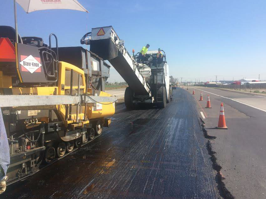 The paving process for RCI projects is quite similar to any other job. However, the higher asphalt binder content of the hot mix does make it a bit stickier and more difficult to work by hand.