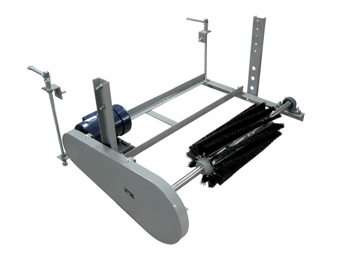 The Model BR conveyor belt cleaner from Conveyor Components is designed to throw excess material into the discharge stream when mounted under the belt's head pulley.