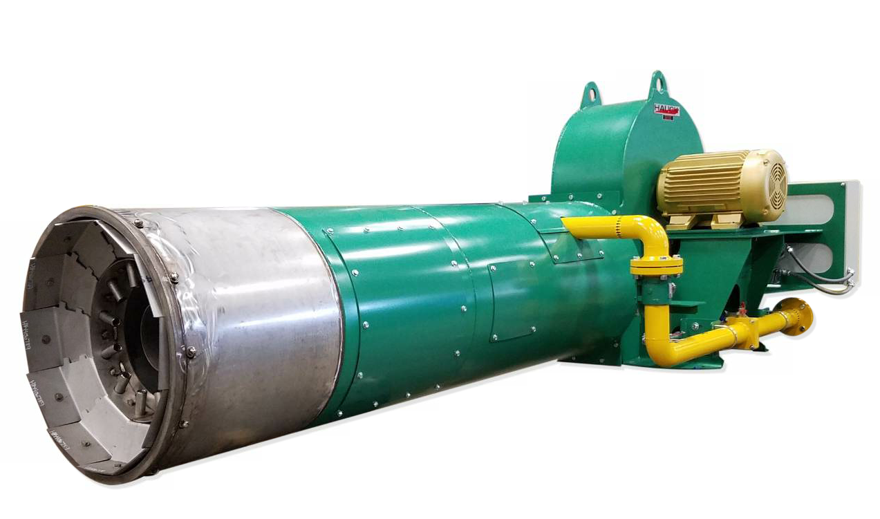 The Hauck MegaStar 25 from Honeywell Thermal Solutions-Hauck Asphalt Products is capable of firing oil, reclaimed oil, natural gas, vaporous propane and liquid propane.