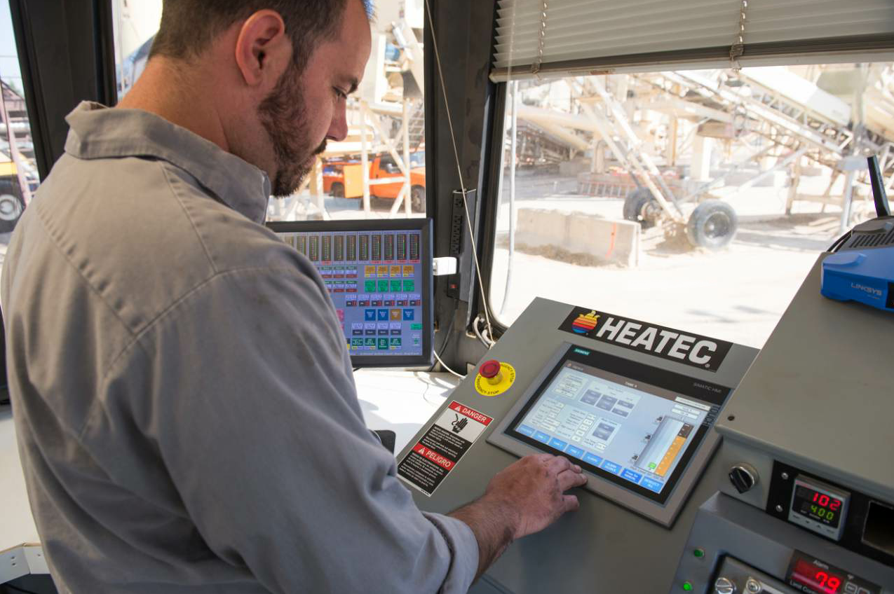 Heatec offers a new centralized control system for HMA plants.
