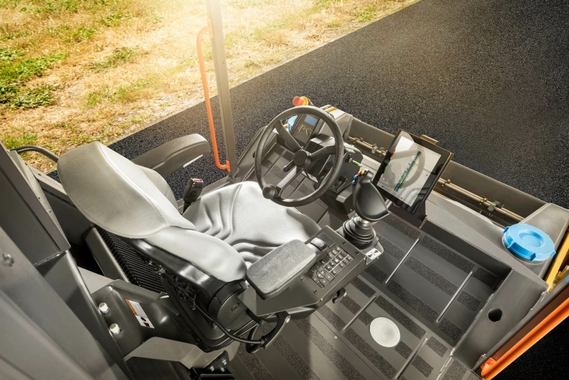 Volvo's Density Direct features an 8X10 touch screen display and uses a GPS to track roller passes. Photo courtesy Volvo Construction Equipment, Shippensburg, Pennsylvania.