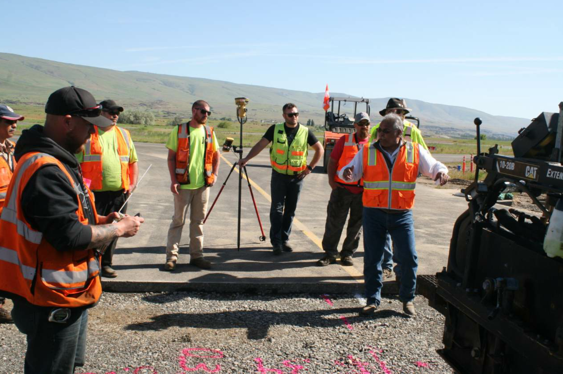 Not your ordinary toolbox talk! The PPI Group is the regional dealer that helped get a package of Topcon's millimeter-grade technology together in short order and helped the team members understand how to use it for success on the project.