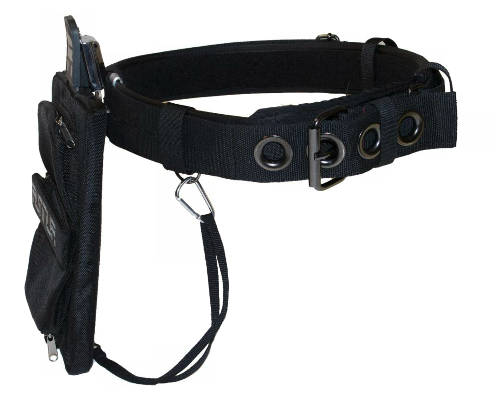 This RUNNER tool belt enables the worker to carry his iPad into the field and keep it close at hand.