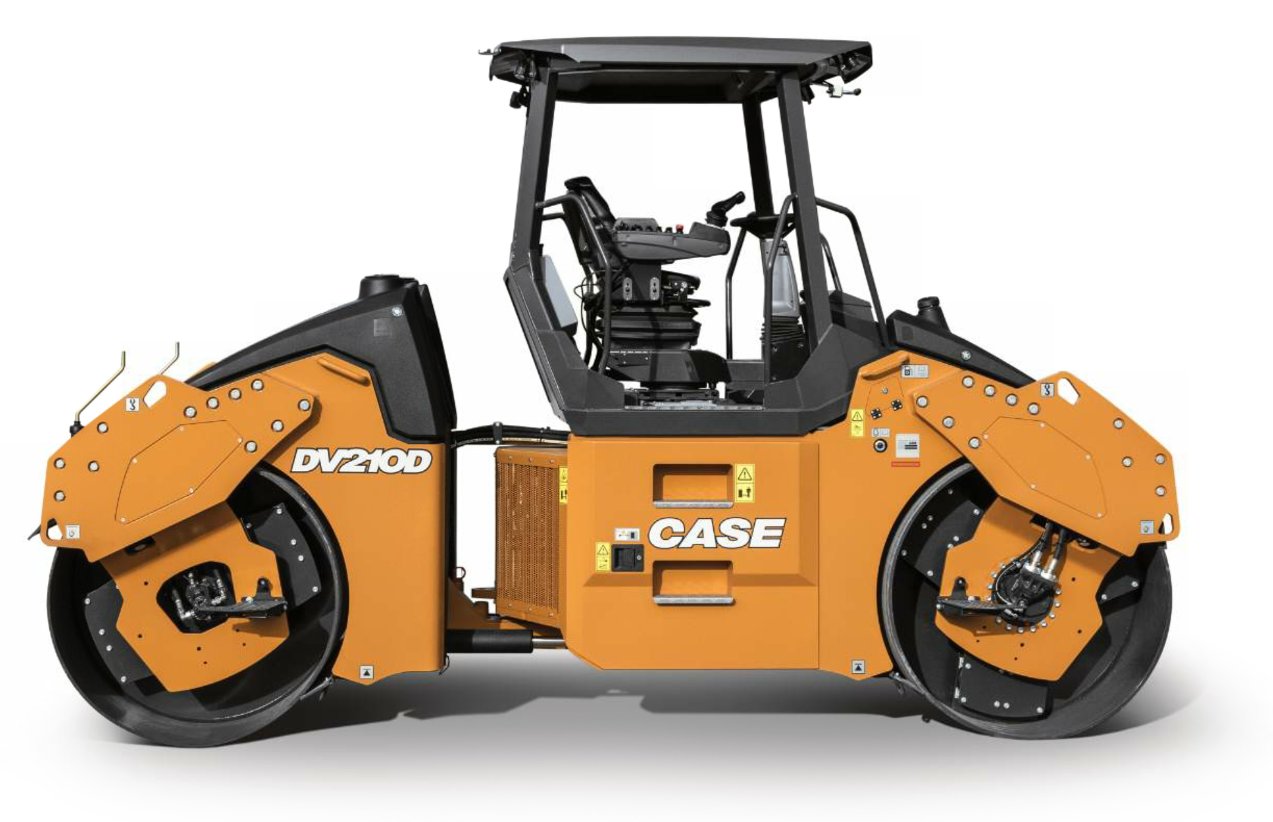 The DV209D and DV210D, pictured here, from Case Construction Equipment are designed for groundline serviceability with large swing-out doors on both sides of the machine for easy access.