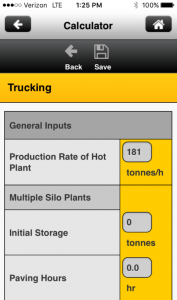 The Paving Amplitude Calculator App from Caterpillar Paving Products, Peoria, Illinois, is designed to help the operator determine the proper amplitude setting for the roller. The user inputs a number of metrics and the tool processes the information to offer a recommended amplitude setting and instruction on how to set up the vibratory system to provide the recommended output. Photo courtesy Caterpillar Paving Products, Peoria, Illinois.