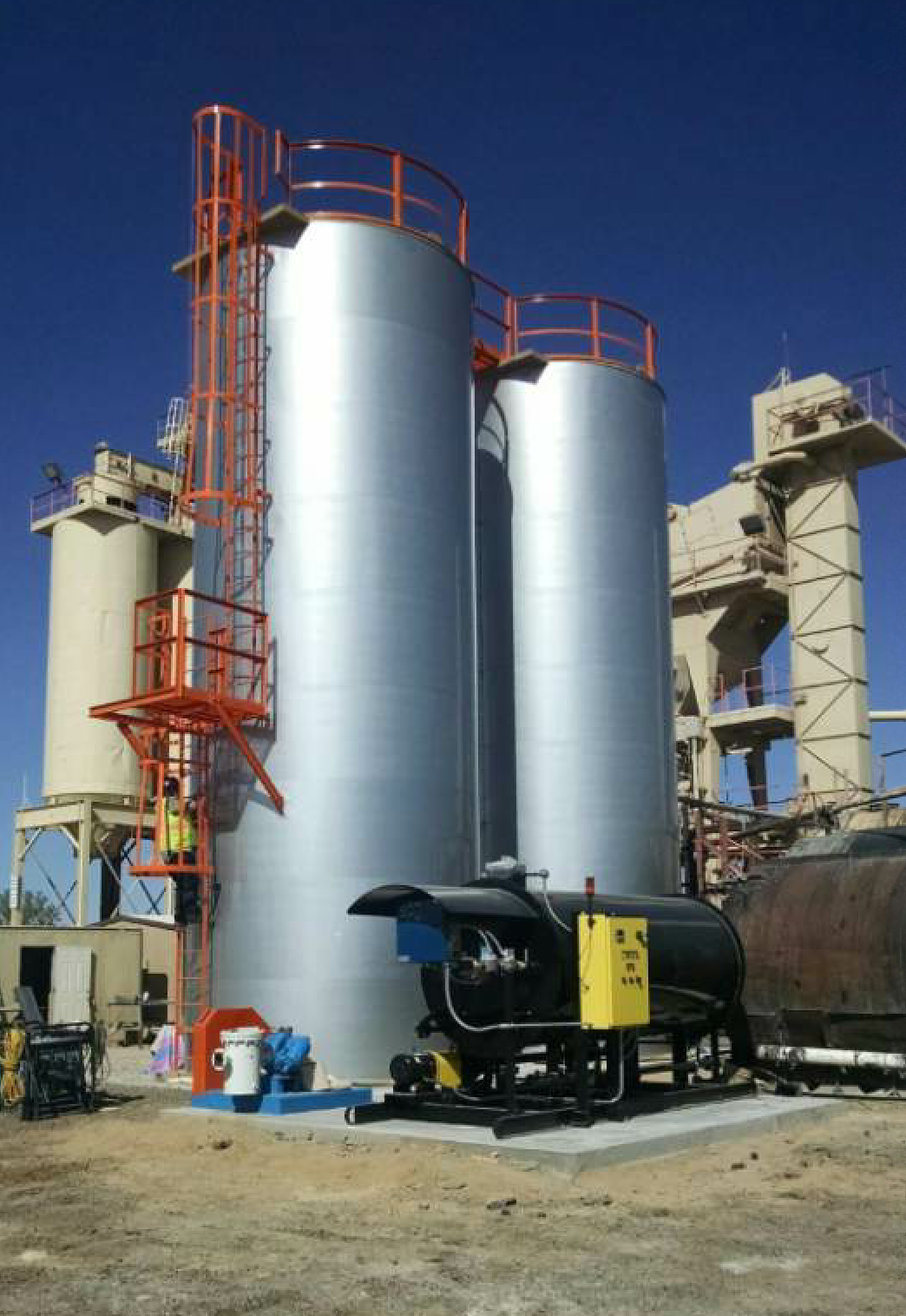 The Burke asphalt storage tanks from Reliable Asphalt Products have been updated for the season.