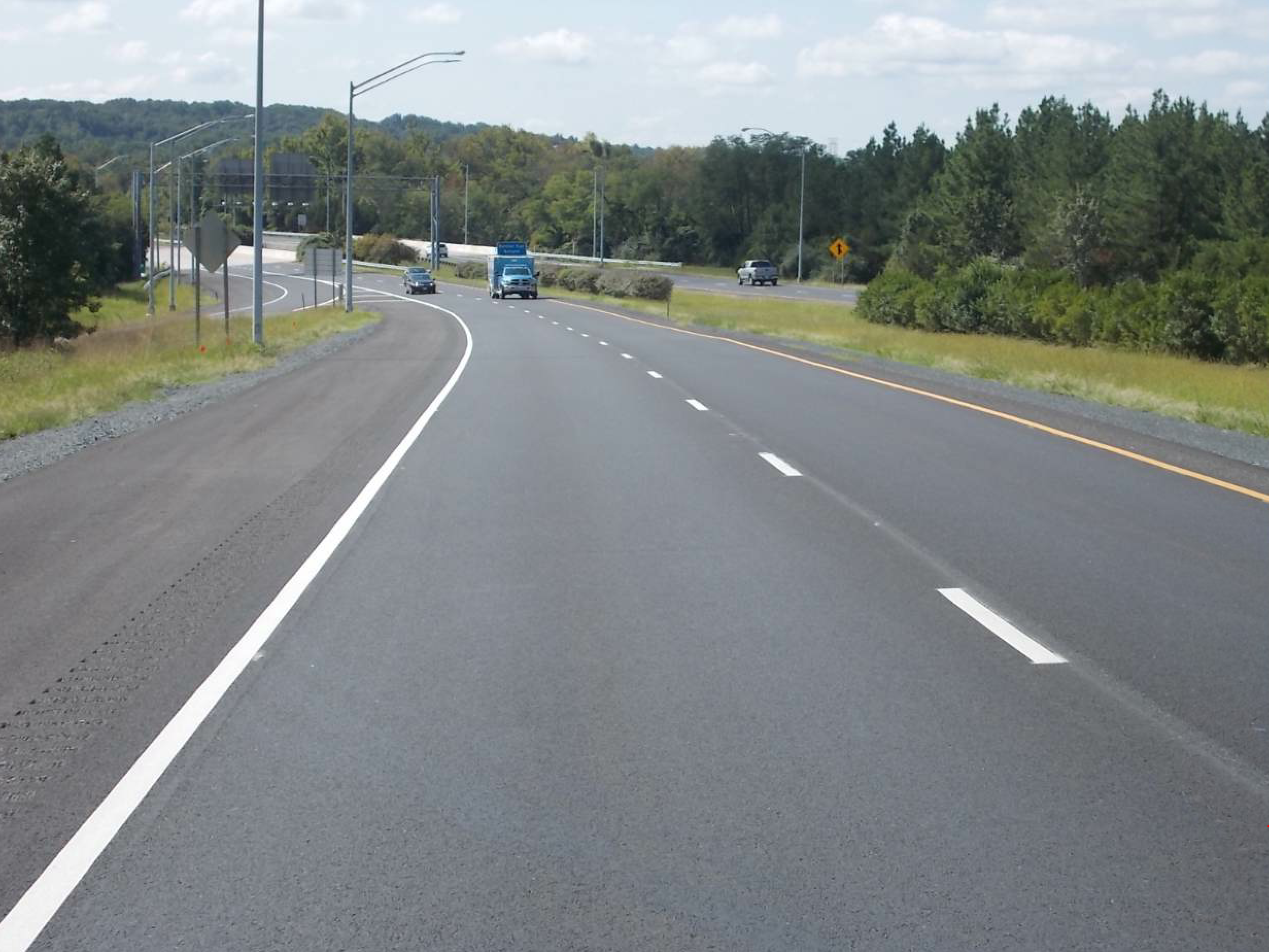 """The company's pilot project was a 6,000-ton project along I-195 to BWI Airport. The I-195 project turned out to be a perfect candidate for the pilot project. """"We didn't want to test it out on a large scale project, so we were really fortunate to win this project,"""" Graf said."""