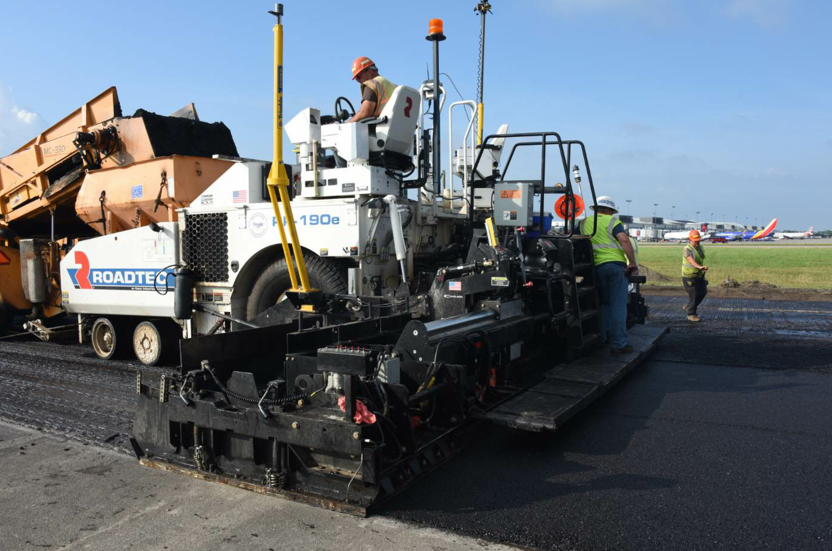 The Buffalo Niagara International Airport for the City of Buffalo, New York, received a new surface course for the entire runway, which measures 5,412 by 150 feet.