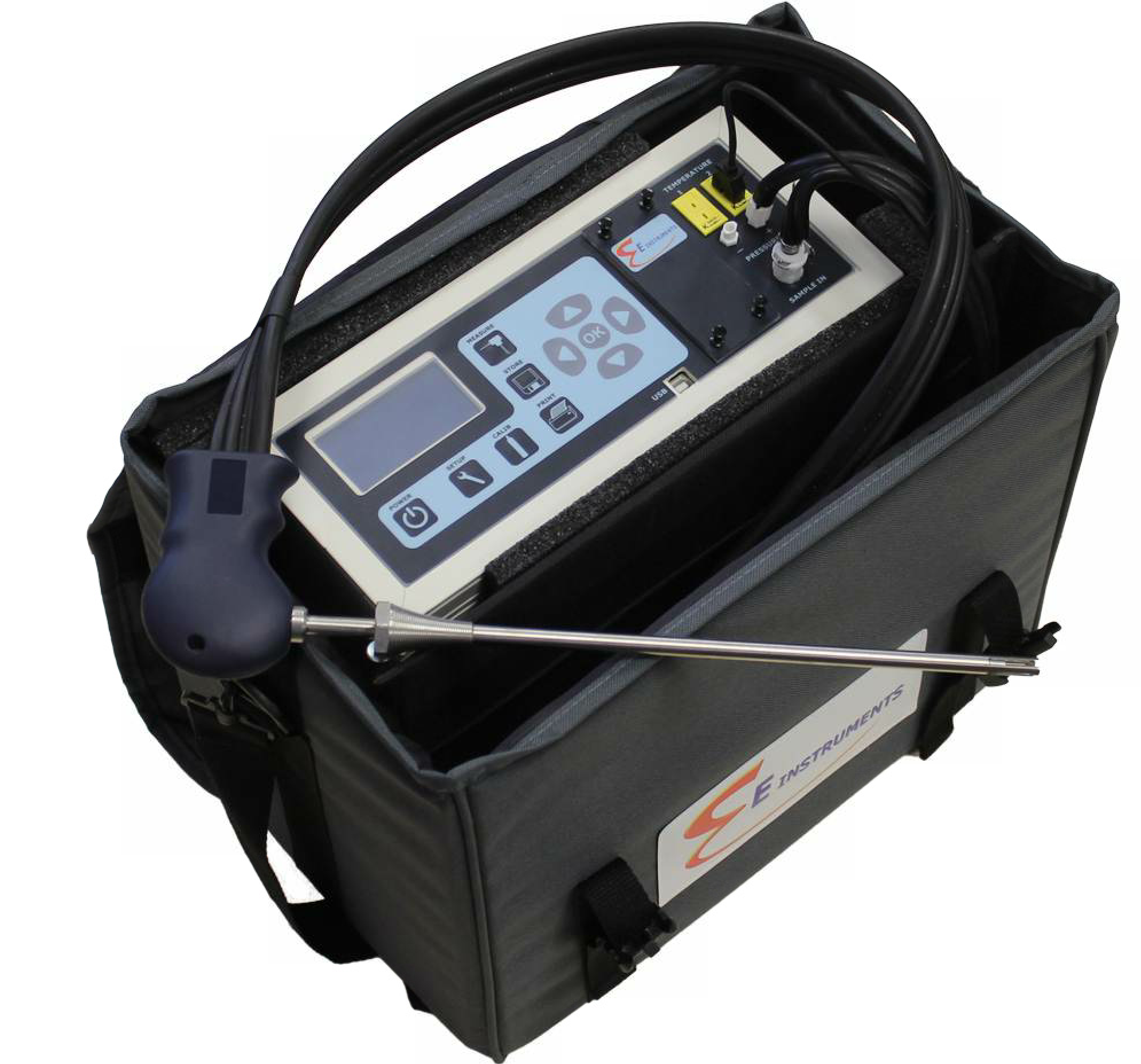 The new E8500 Plus portable emissions analyzer includes an internal thermoelectric chiller with automatic condensate removal.