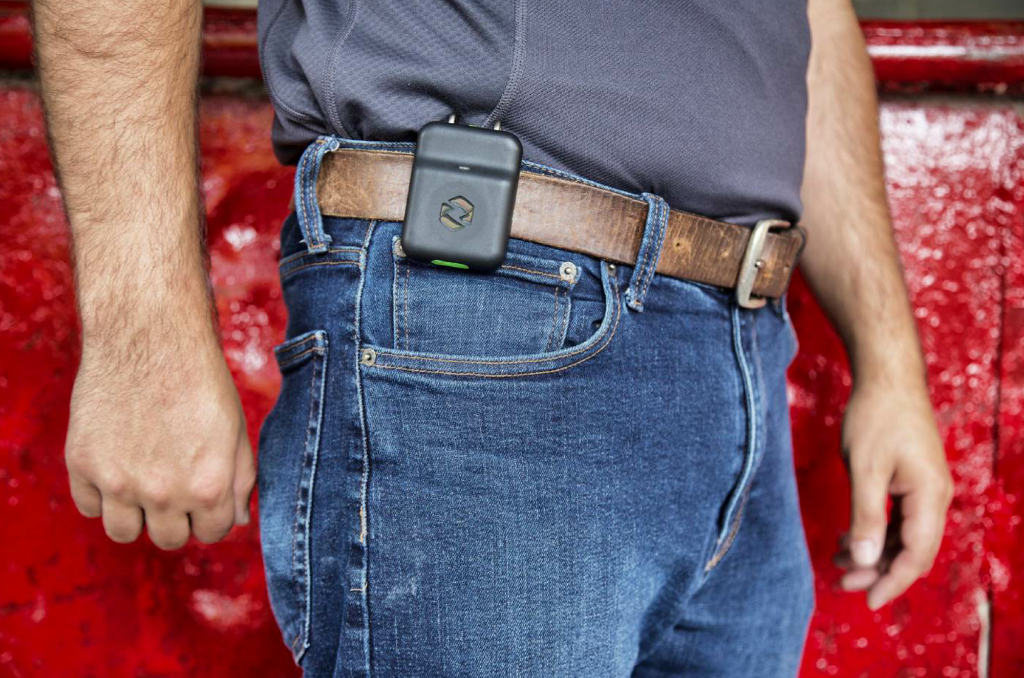 Spot-r is a wearable sensor that alerts a safety supervisor in the event of a slip, trip or fall.