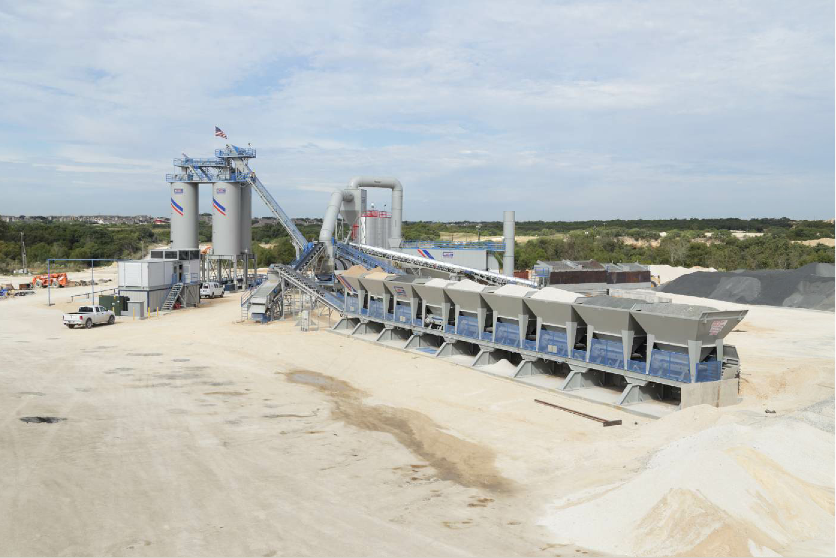 The new UltraRAP® drum mix technology is designed to process up to 60 percent recycled asphalt.