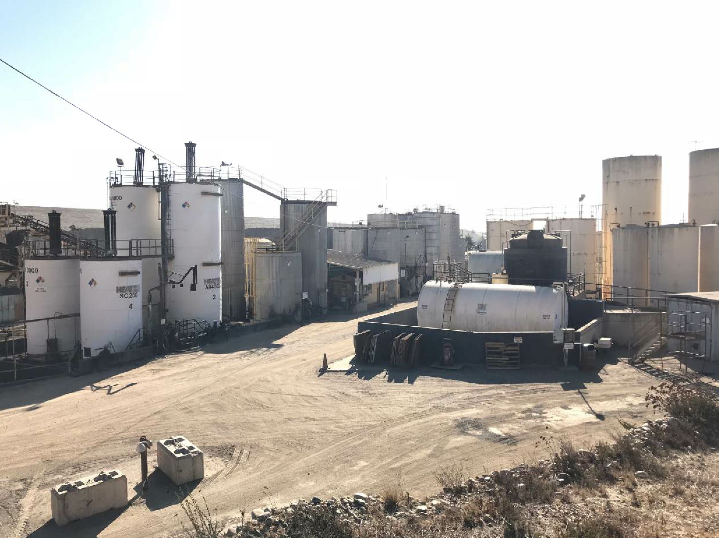 CCA also produces emulsion and sealcoat materials. This is CCA's emulsion plant.