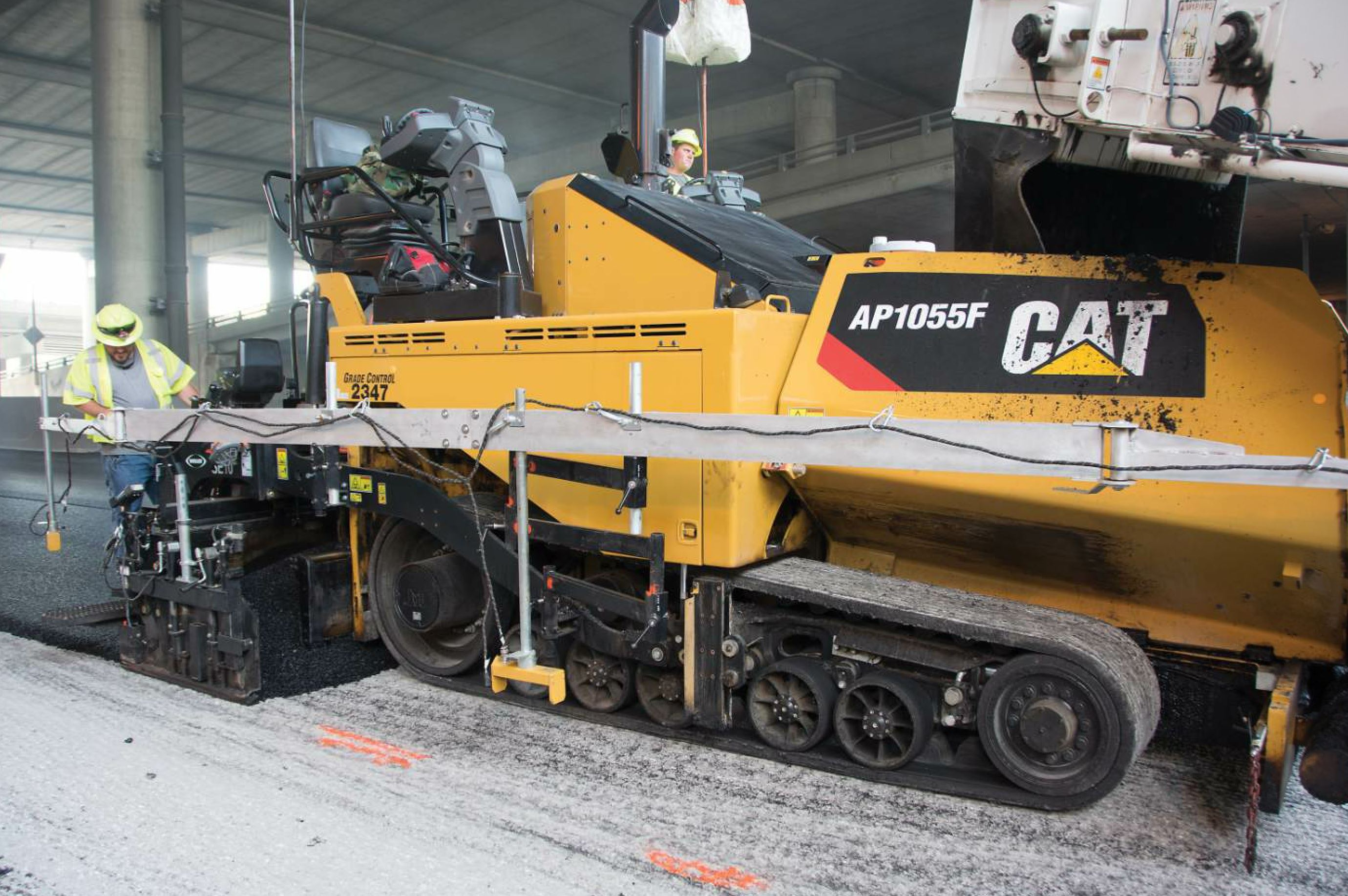 The Superior Bowen paving division's Cat fleet includes five pavers and five cold planers.