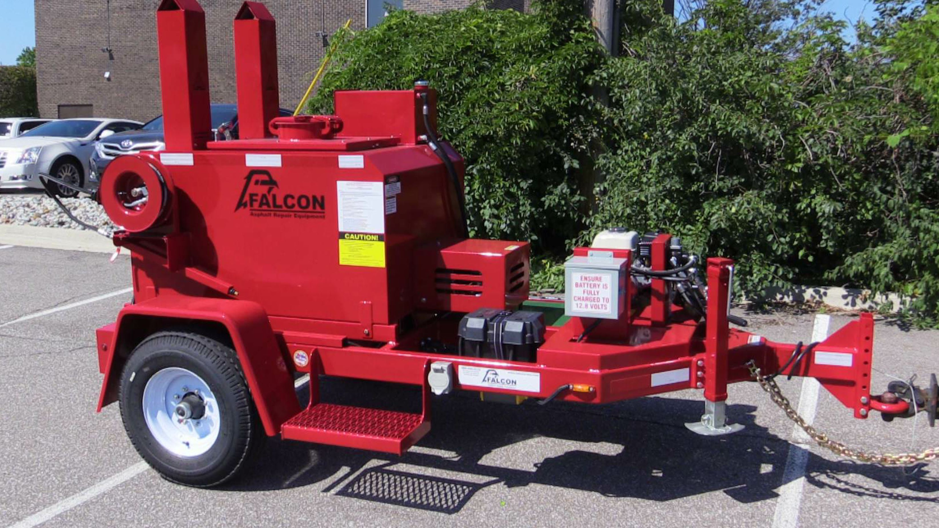 The new tack tank from Falcon Asphalt Repair Equipment comes in a 150- or 250-gallon size.