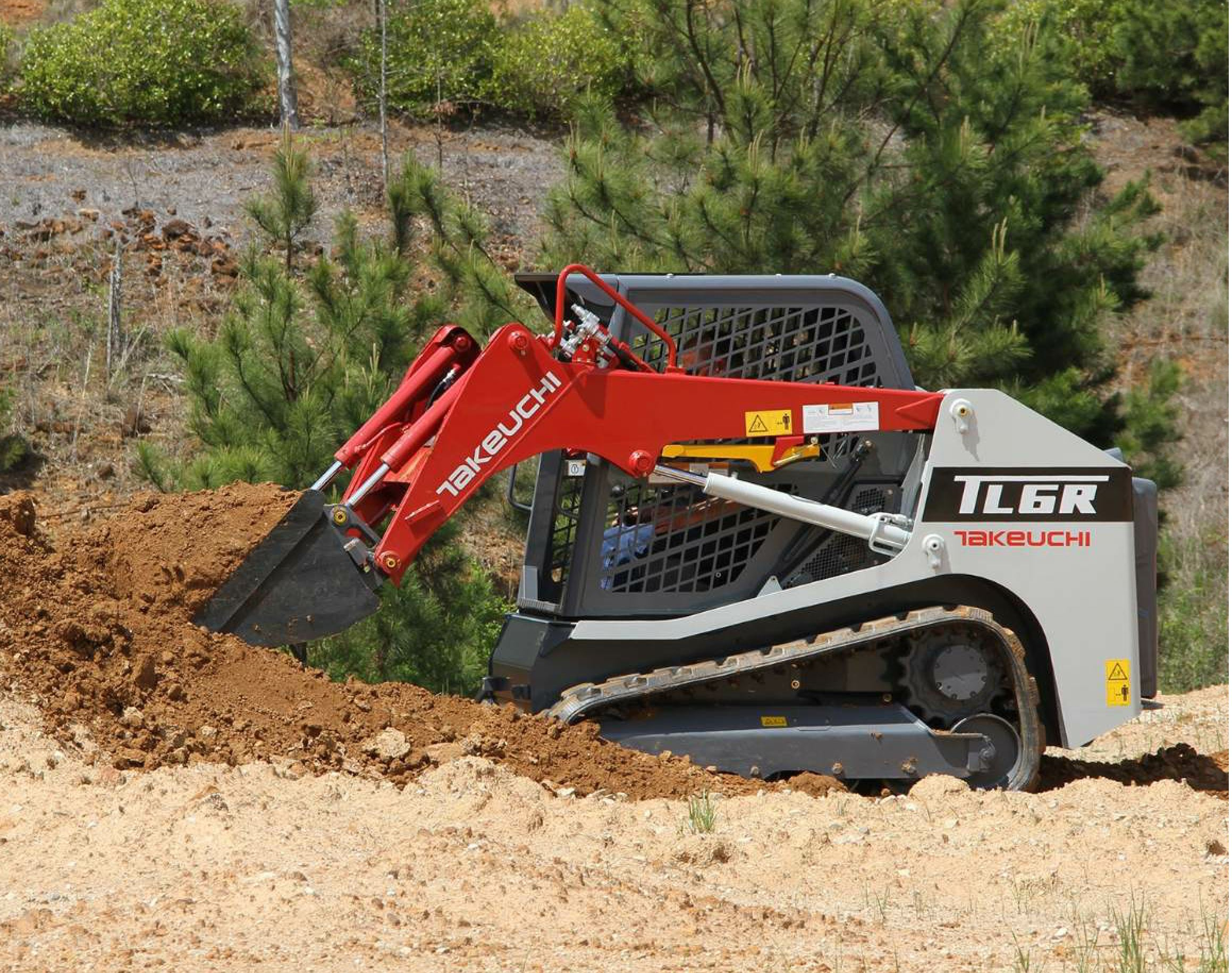 Takeuchi fleet management (TFM) system comes standard on the new TL6.