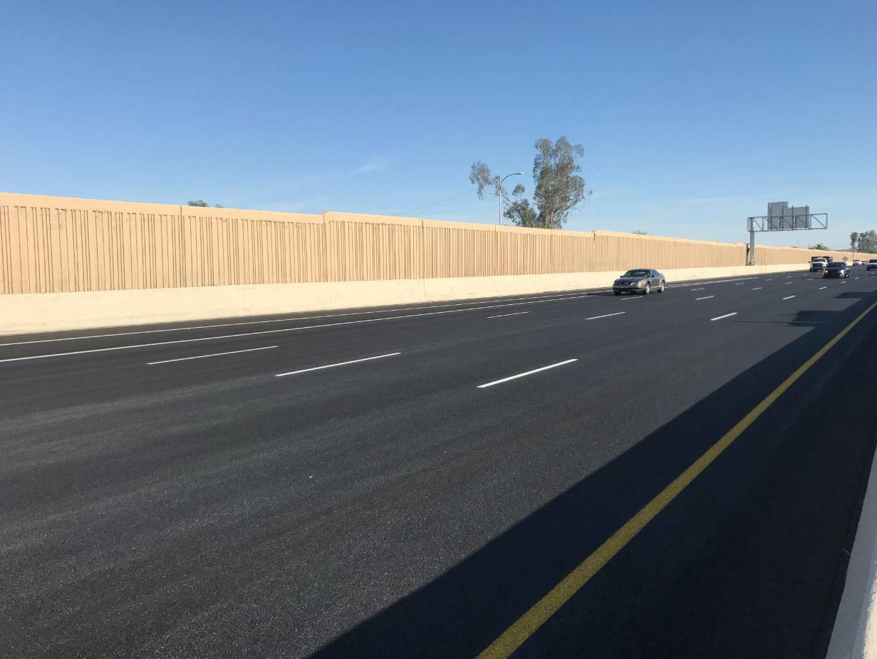 The I-17 project included a 10-mile stretch both north and south with four lanes in each direction for a total of about 80 lane miles.