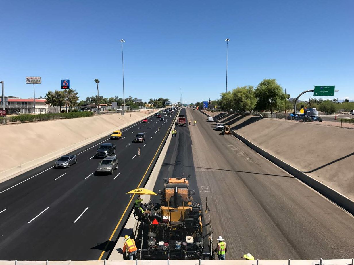 This past July, Banicki completed a $10 million project using rubberized asphalt along Interstate 17.