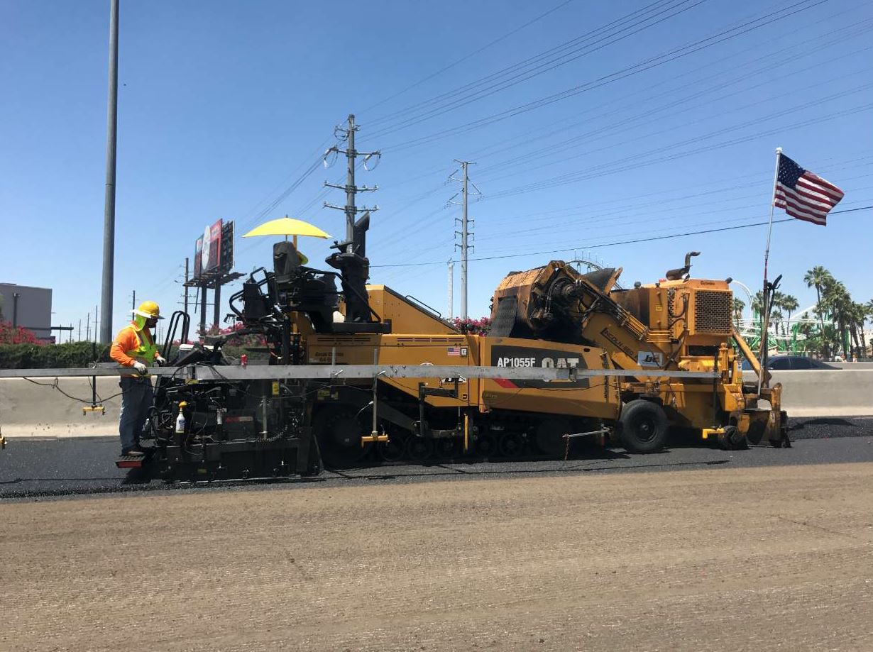 The I-17 project included milling off one inch and paving a one-inch lift of rubberized asphalt for a total of 46,000 tons containing rubber from around 75,000 tires.